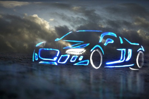 Audi-r8-light-graffiti