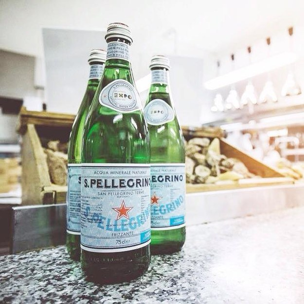 Put some big bottles of mineral water in the fridge.