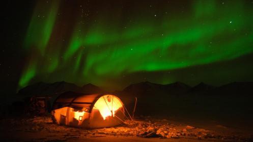 Northern lights over northeastern Greenland (Credit: Morten Hilmer)