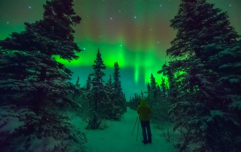 Paul Weeks Shooting the Northern Lights in Alaska - November, 2014