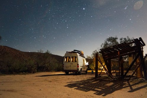At night, they parked in campgrounds, on national forest lands, and in Walmart parking lots.