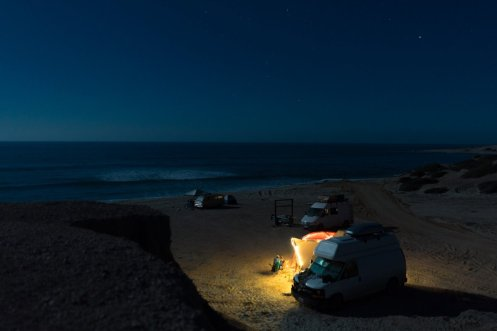 The wrapped their adventure in Baja, Mexico, where they parked on the beach.