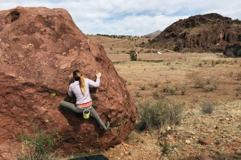 They climbed rocks in Socorro County, New Mexico ...
